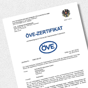 Download EC/UVB ÖVE certificate