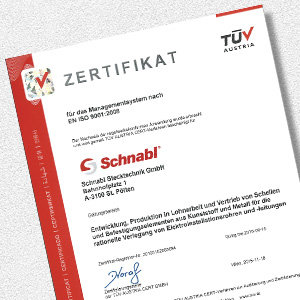 Download certificate for Schnabl Management TÜV